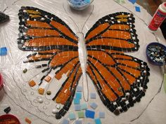 mosaic butterfly - Google Search