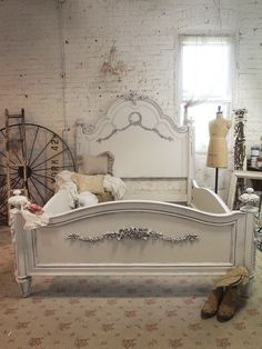 Painted Cottage Shabby Oyster Romantic Queen by paintedcottages, $1895.00