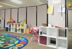 Separate classroom or day care space in seconds using the Room Divider 360.