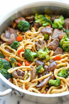 This beef noodle is the easiest stir fry ever! Add in your favorite veggies and mix!