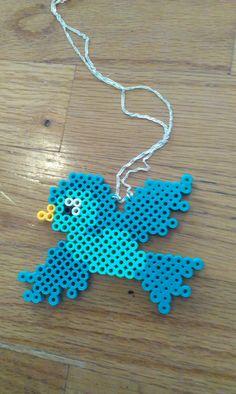 Items similar to Perler Bead Bird Necklace on Etsy