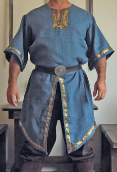 Medieval Celtic Elven Viking Mid-Arms Sleeves Shirt Deluxe