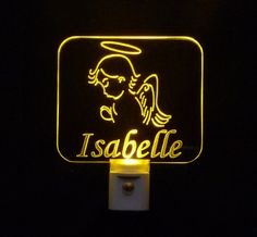 Kids Personalized Praying #Angel LED Night Light
