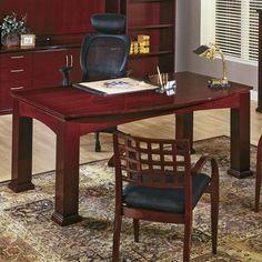 OSP Furniture Mendocino Executive Bow Front Standard Desk Office Suite