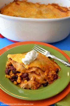 Slow Cooker Enchiladas http://recipesforourdailybread.com/2012/10/25/crock-pot-chicken-enchiladas/