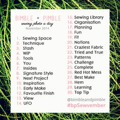Everyone vs Sewing Photo A Day Challenge