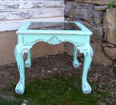 AQUA Claw Foot Nightstand Side Table ( I Had A Table Like This Why Did I Get Rid Of It????)
