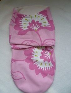 Pink Baby Swaddle Wrap with Free downloadable pattern link
