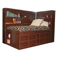 I like this Captain Bed and all of the storage spaces.