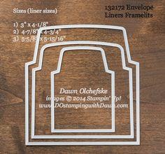 Envelope Liners Framelit sizes shared by Dawn Olchefske #dostamping #stampinup