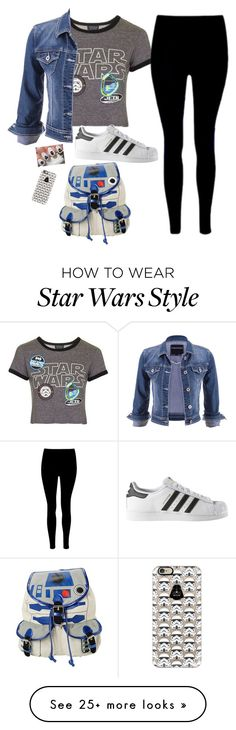 """""""May The 4th Be With You"""" by the-akward-moment on Polyvore featuring Topshop, maurices, adidas, Casetify and R2"""