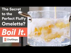 YouAccel Shared a Video: The Secret to the Perfect Fluffy Omelette Recipe? Boil it. Fluffy Omelette Recipe, Recipe Link, Knowledge Is Power, Sous Vide, Fast Growing, Fresh Herbs, Love Food, The Secret, Brunch