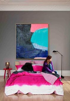belle maison- I need the bedding and the art