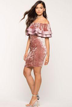 Velvet Senorita Ruffle Dress
