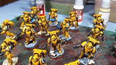 Mordian 7th Regiment: Heresy Era Imperial Fists - Basing the models