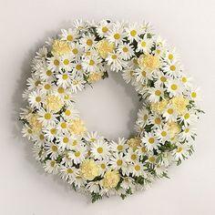 daisy wreaths | Daisy Floral Wreath - Wreaths for Weddings