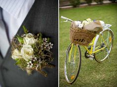 #Rustic #boutonniere and #bike