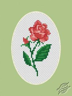 Rose Flower Cross Stitch Kit - Luca S - Beginner X & Garden Cross Stitch Cards, Cross Stitch Rose, Cross Stitch Kits, Cross Stitching, Cross Stitch Embroidery, Cross Stitch Patterns, Hand Embroidery Kits, Easter Cross, My Flower