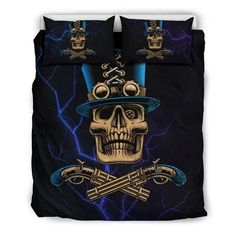Are you looking for unique bedding sets for adults? We got you covered. All of our bedding sets have unique designs such as gothic bedding sets, skull bedding sets and more. Our bedding sets are super-soft, comfortable, and perfect for any season. Each bedding set comes with a duvet cover and 2 pillow covers. Blue Bedding Sets, Queen Bedding Sets, Gothic Bed, Japanese Warrior, Bed Sheets, Unique Bedding, Pillow Covers, Skull, Design