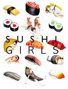 https://www.behance.net/gallery/15939251/Watercolored-Sushi-Girls-Patterns