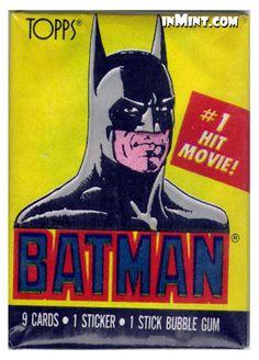 inMint.com - Batman: Movie Photo Trading Cards Wax Pack (9 cards/1 sticker) - Batman Trading Cards