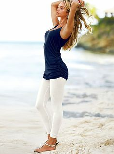This outfit is adorable on her, but how could white leggings ever be a good idea?