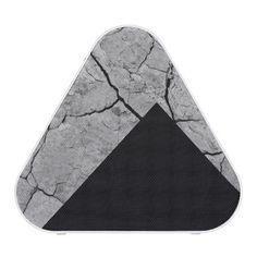Rock/Stone Texture Colorblock Monogram Speaker