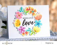 *NEW* - Altenew - Heart Flowers Stamp Set, AlteNew: Dies to Die For
