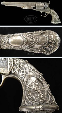 Colt Model 1860 Army with decorations by Tiffany and Co. to commemorate the Civil War.