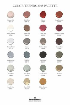Benjamin Moore color trend 2018