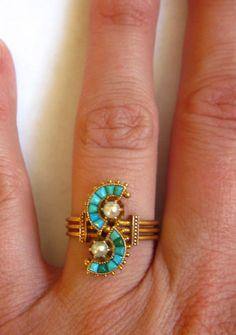 ring - Antique Victorian Turquoise
