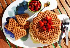 Eggless waffle recipe or Vegan waffles with step by step photos -very easy to make. The basic waffle recipe, you can flavor it up as you like Eggless Waffle Recipe, Waffle Recipes, Eggless Waffles, Vegan Foods, Vegan Recipes, Cooking Recipes, Vegan Meals, Tostadas, Breakfast And Brunch