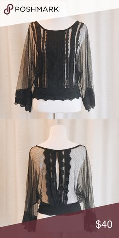 Black Lace Keyhole Blouse Gorgeous black lace blouse with a keyhole back. Wonderful details throughout. This one of a kind blouse is a Size Small. Excellent condition, like new! ❤️feel free to make an offer❤️ Miss Finch Tops Blouses