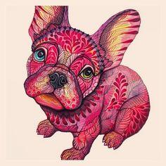 Batpig & Me Tumble It | Frenchie | French Bulldog | Art