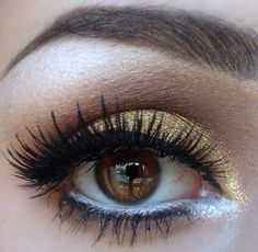 Bello para realzar los ojos marrones
