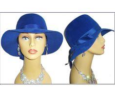Vintage 1950s Hat Roayl Blue Femme Fatale Couture by vintagediva60, $65.00