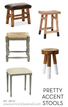 Love all these pretty accent stools!