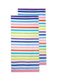 Multihorizontal Stripe Beach Towels Set Of 2 By Dohler At Gilt