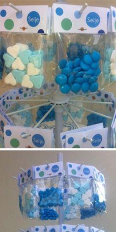 Voor de geboorte van mijn neefje heb ik een snoepmolen gemaakt. Het kraambezoek vond het fantastisch!
