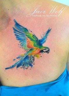 Watercolor Tattoos Expert, Jav i  Wolf, the artist from Mexico city!   Find Javi on Facebook