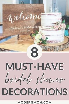 8 Essential Modern Day Bridal Shower Decorations - A list of 8 essential bridal shower decorations, including elegant and rustic decor ideas. Bridal Shower Table Decorations, Bridal Shower Backdrop, Bridal Shower Tables, Elegant Bridal Shower, Wedding Shower Favors, Bridal Shower Gifts, Bridal Showers, Bridal Shower Venues, Bridal Shower Planning