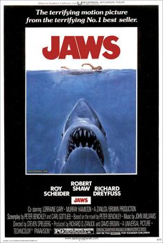 Jaws, 1975 the scariest film of my life! back in the day, Jaws is like a sitcom,lol compared to the things that we see now.