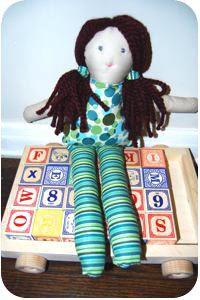 sewn rag doll