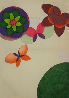 """""""Migração"""" (Migration)  Artist Quim Alcantara  Acrylic on raw cotton, 2011"""