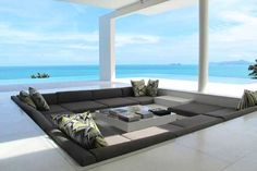 divano infossato vista mare