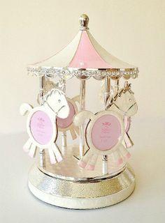 £34.99 Rotating Musical Carousel Photo Frame http://www.baby-blessed.co.uk/trinket-keepsakes.html