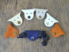 Cord holder cat cord organizer earbud holder leather cable