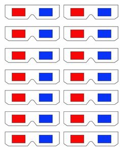 Printable 3D glasses—would make an awesome garland!