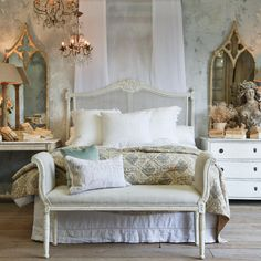 Eloquence Louis XVI Cane Oyster Headboard @LaylaGrayce