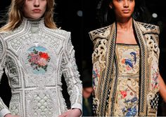 Balmain FW 2012  His inspiration was the Faberge egg. Amazing.
